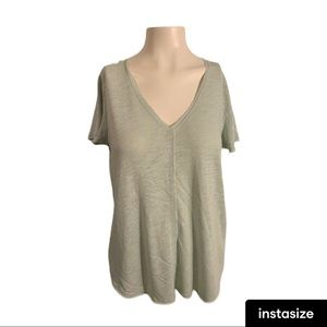 Urban Outfitters V-Neck T-shirt Mint color